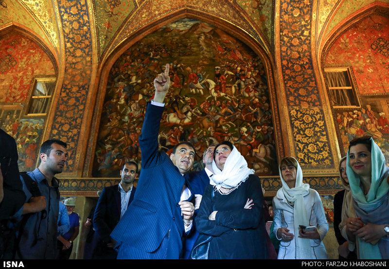 سفر رئیس مجلس سنای بلژیک به شهر اصفهان