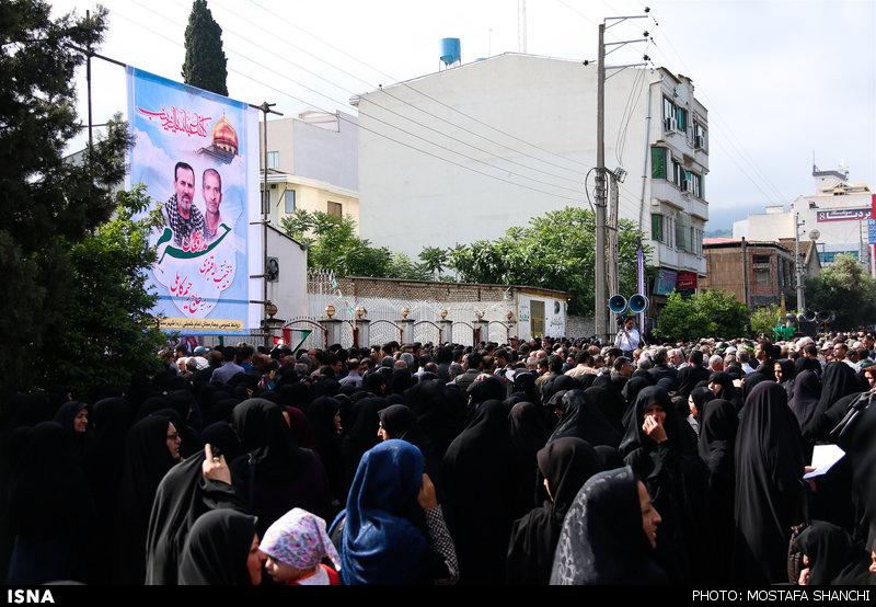 تشییع پیکر شهید مدافع حرم در بهشهر