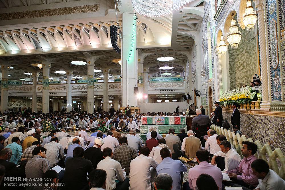 مراسم تشییع شش شهید مدافع حرم حضرت زینب (س)