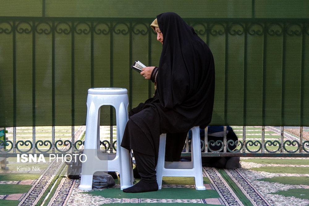 مراسم ترتیل خوانی در حرم امامزاده صالح