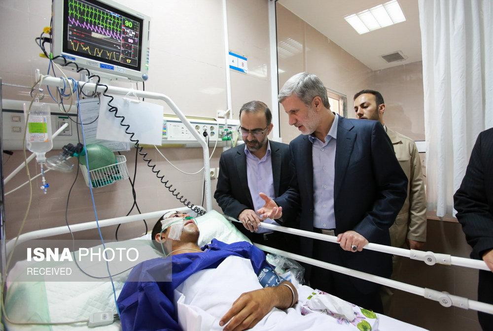 عیادت جانشین وزیر دفاع و پشتیبانی نیروهای مسلح از سربازان حادثه دیده