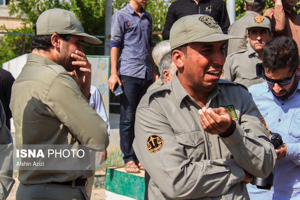 مراسم تشییع پیکر محیط بان شهید منوچهر شجاعیان
