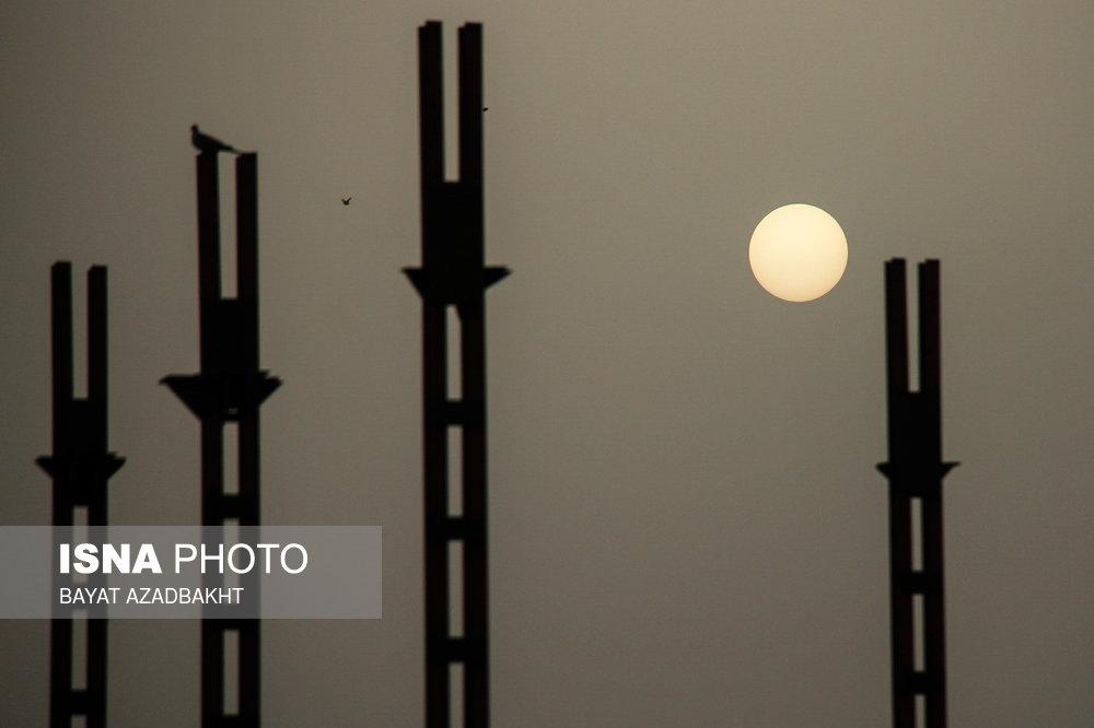 آسمان غبار آلود استان لرستان
