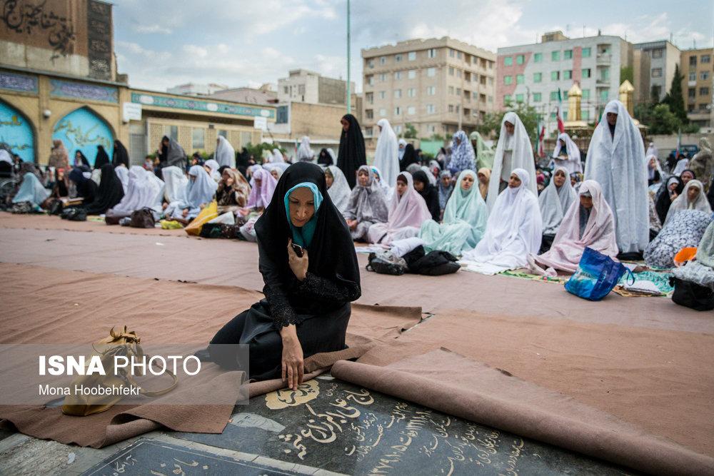 نماز عید فطر - امامزاده جعفر و حمیده خاتون (ع) ـ باغ فیض