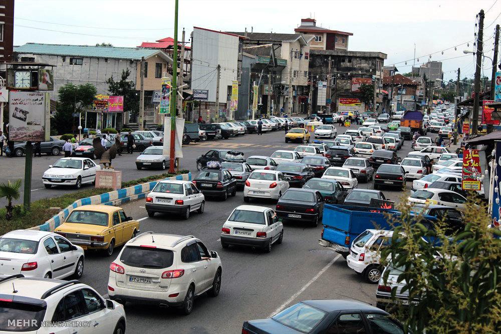 ترافیک سنگین محور چابکسر به رامسر