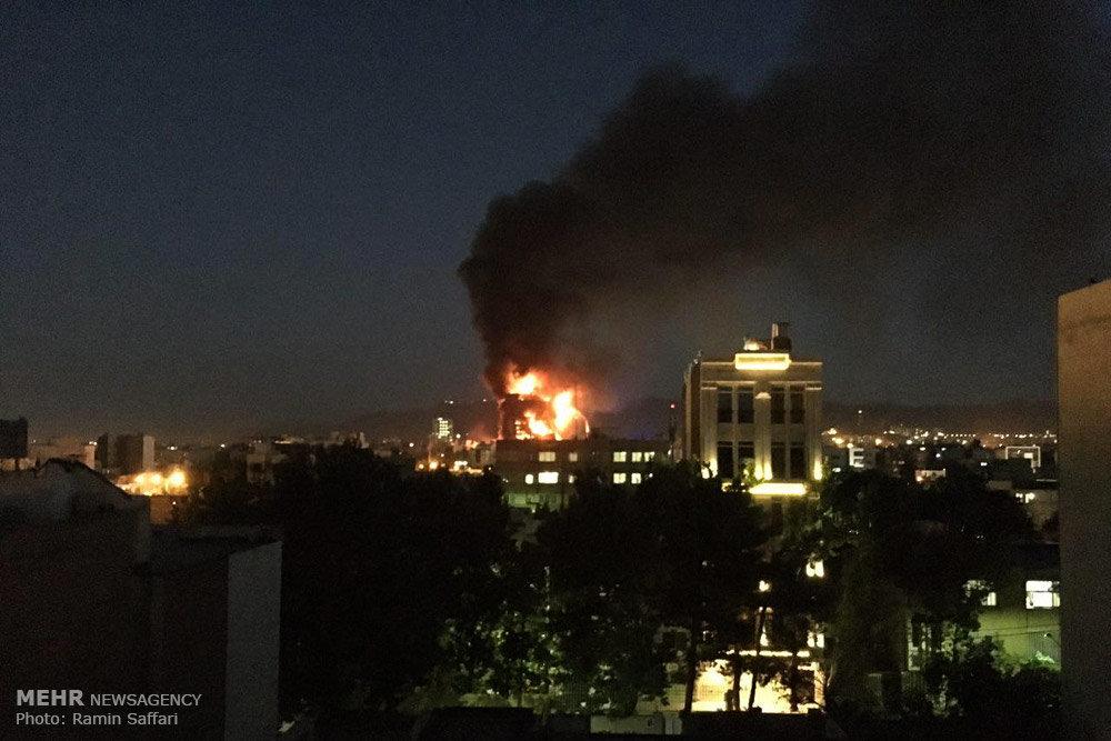 آتش سوزی در برج سلمان مشهد
