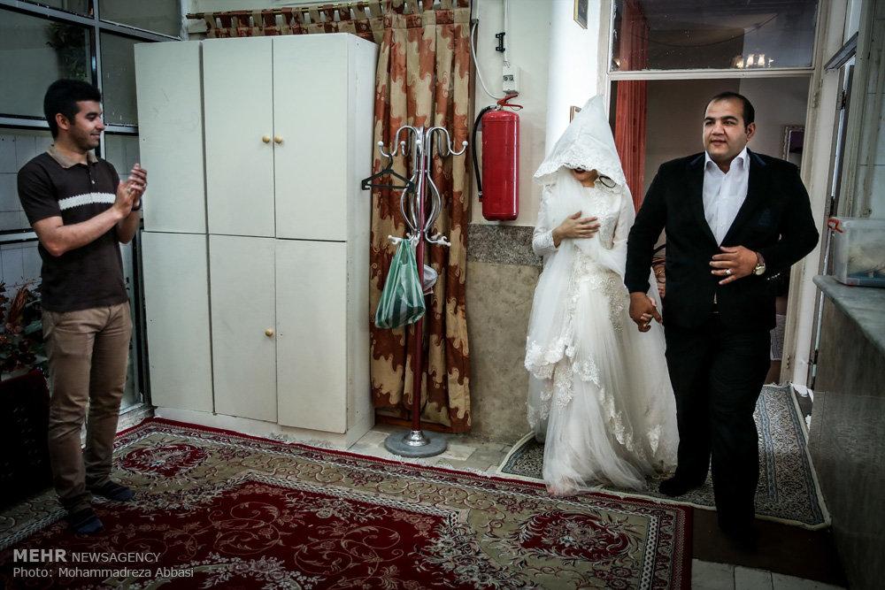 جشن عروسی زوج جوان در موسسه خیریه طلیعه کرامت تهران