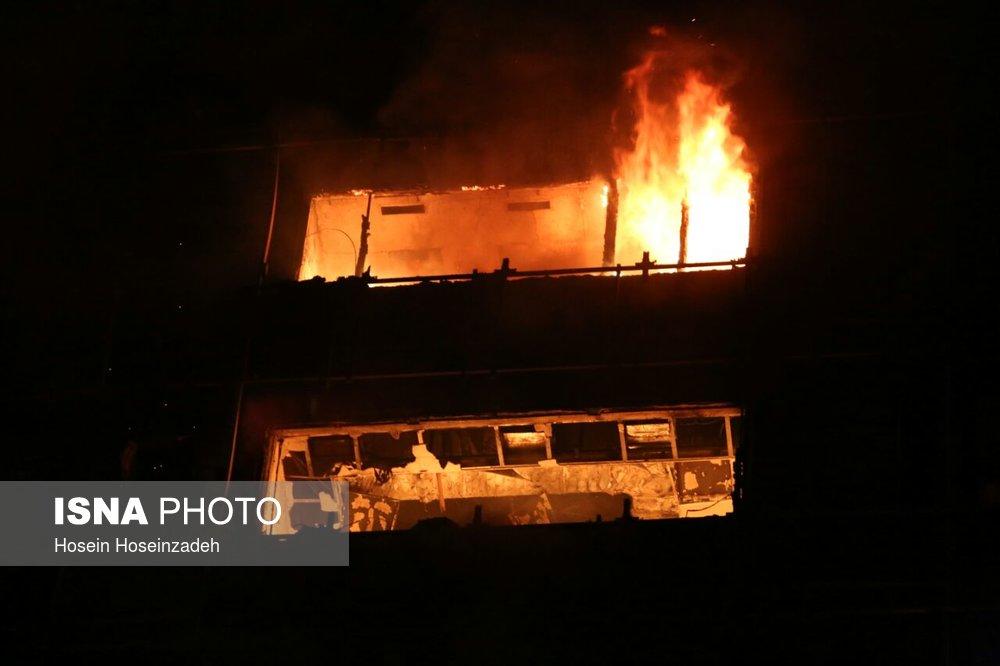 آتش سوزی برج سلمان مشهد