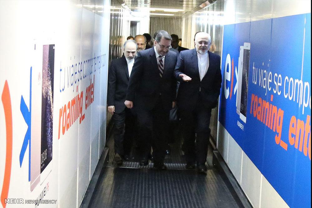 ورود وزیر امور خارجه و هیات همراه به فرودگاه سانتیاگو شیلی