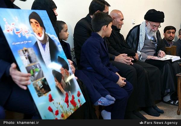 دیدار خانواده جانباز شهید رجب محمدزاده با رهبر معظم انقلاب اسلامی