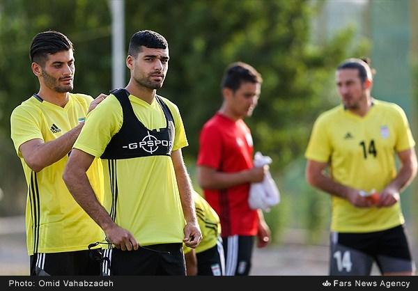 آخرین تمرین تیم ملی فوتبال قبل از دیدار با قطر