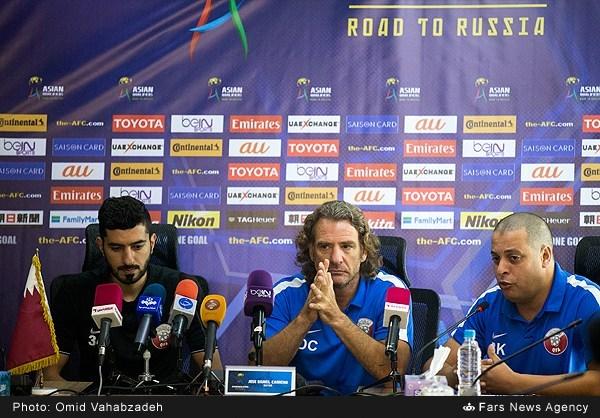 نشست خبری سرمربیان تیمهای فوتبال ایران و قطر