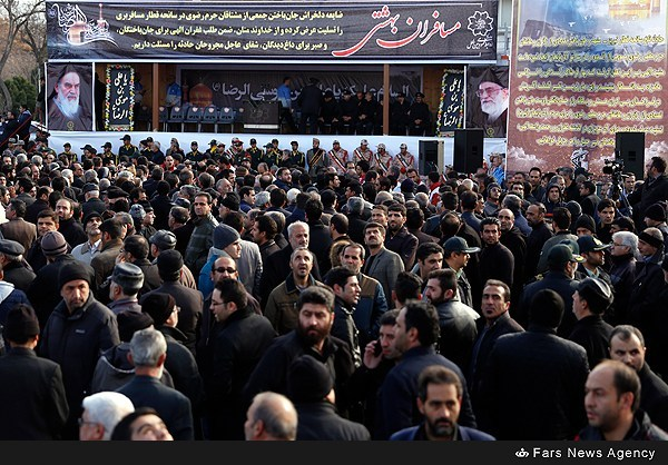 مراسم تشییع پیکر جانباختگان حادثه قطار تبریز - مشهد
