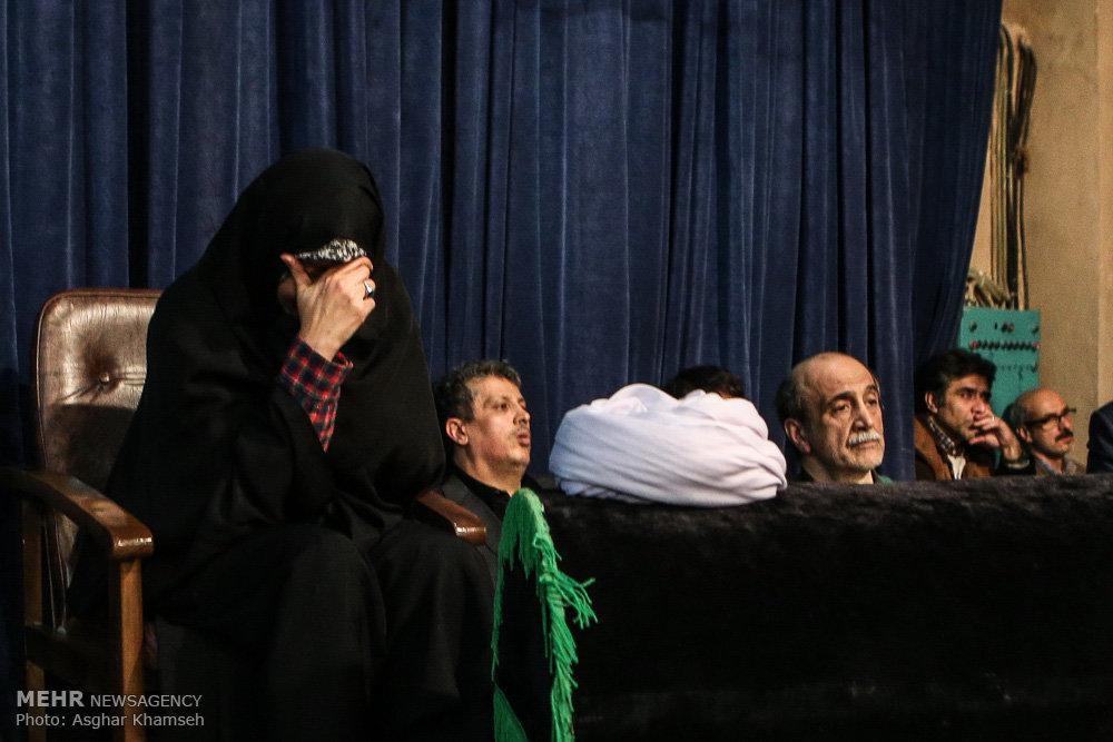 وداع با پیکر آیت الله هاشمی رفسنجانی در حسینیه جماران ۱