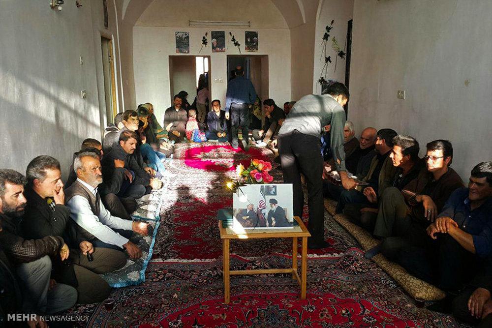 مراسم عزاداری در منزل پدری آیت الله هاشمی رفسنجانی