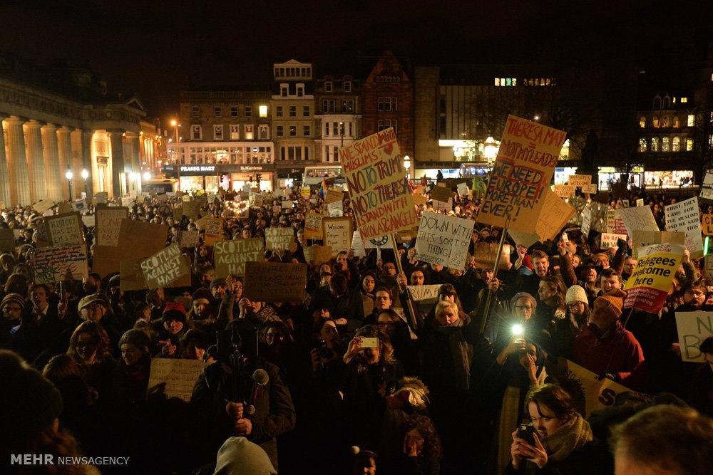 تظاهرات علیه ترامپ در انگلیس