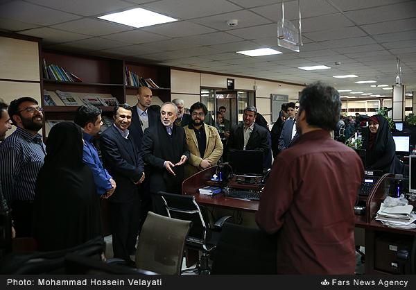 بازدید علیاکبر صالحی از خبرگزاری فارس