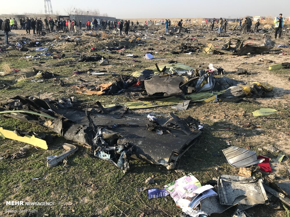 Ukrainian Boeing crash in Tehran 2020