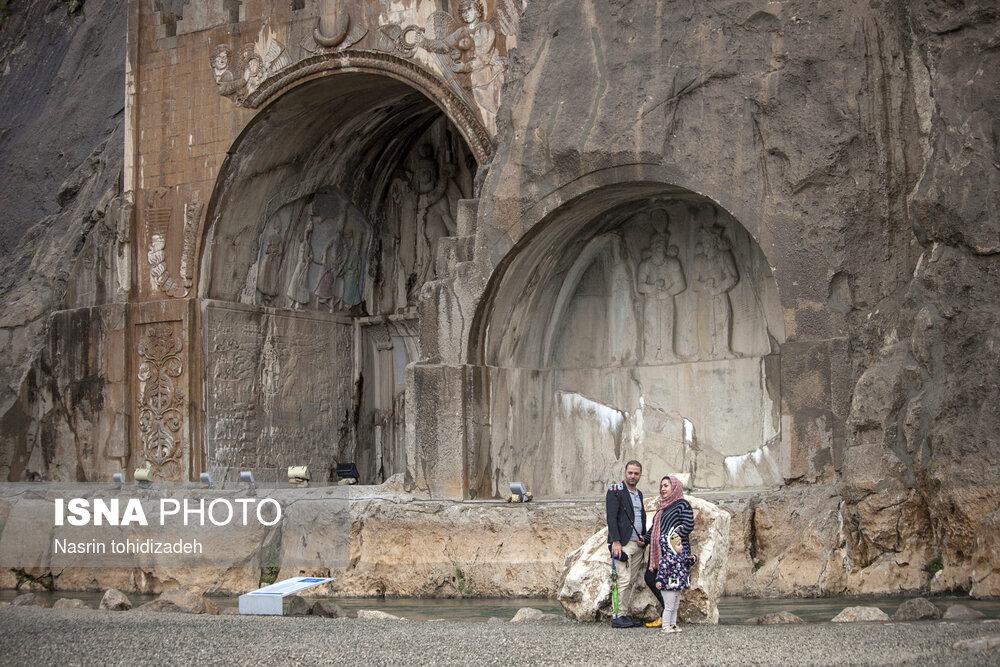 تصاویر طاق بستان کرمانشاه در نوروز ۹۸