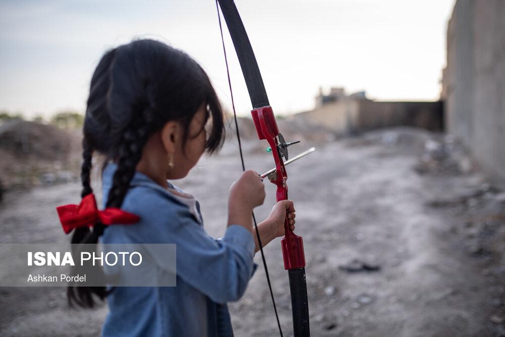 تیروکمان، سرگرمی اهالی گلشهر مشهد / تصاویر