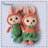 قیمت عروسک دختر و پسر خرگوشی نانو