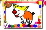بازی کتاب رنگ آمیزی خوک ها