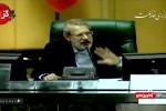 فیلم درگیری لفظی شدید نماینده مجلس و لاریجانی در صحن علنی