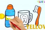 آموزش آسان نقاشی به کودکان (مسواک، بستنی، دمپایی)