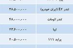 رکود رمضانی بازار خودرو -  جدول قیمت