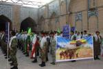 راهپیمایی نمادین نیروهای بسیجی در دزفول برگزار شد