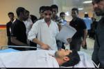 تصاویر انتقال یکی از مجروحان حادثه تیراندازی دزفول به بیمارستان گلستان اهواز