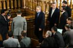 تصاویر آخرین نشست خبری لاریجانی در مجلس نهم