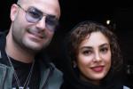 ست یلدایی حدیثه تهرانی با همسرش کیان