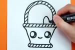 آموزش نقاشی به کودکان | این قسمت نقاشی سبد تخم مرغ