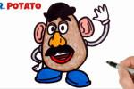 آموزش نقاشی به کودکان   این قسمت نقاشی شخصیت آقای سیب زمینی