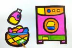 آموزش نقاشی به کودکان   این قسمت نقاشی ماشین لباسشویی