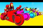 انیمیشن موتور سواری ابرقهرمانان و شعر های مهد کودک برای خردسالان