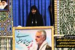 سخنرانی عربی فرزند قاسم سلیمانی در نماز جمعه کرمان