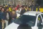 تجمع هواداران سپاهان مقابل هتل کوثر پیش از بازی برابر پرسپولیس