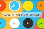 دانلود ساعت های آنالوگ Wow KitKat Clock Widgets برای اندروید