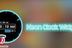 دانلود ویجت ساعت نئونی Neon Clock Widget v5.2 برای اندروید