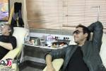 عکسهای امیرحسین رستمی در مرکز اهدای خون
