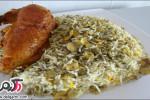 دستور پخت باقلا پلو بامرغ برای روز عید