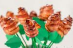 ایده گوشت رول شده به شکل گل رز