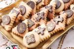 روش تهیه کوکی بادام با شکلاتهای فانتزی