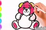 آموزش نقاشی به کودکان   این قسمت نقاشی خرس عروسکی خوشگل