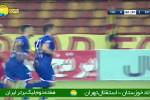 گل اول استقلال در مقابل فولاد توسط غفوری