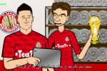 طنز خنده دار ناکامی مسی مقابل رونالدو