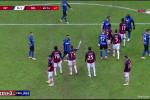 درگیری زلاتان و لوکاکو در بازی میلان مقابل اینتر