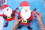 آموزش ساخت عروسک بابانوئل با کاغذ
